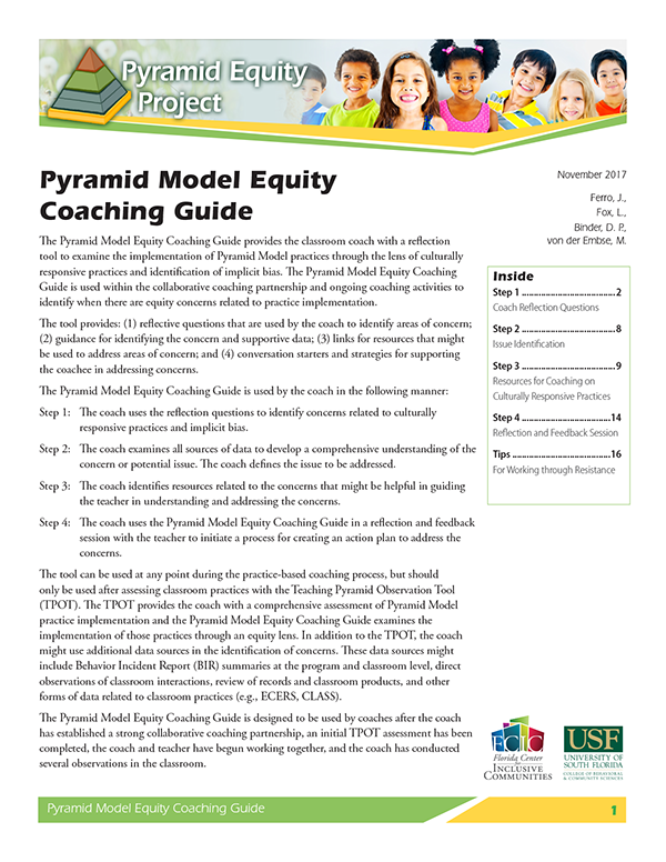 Pyramid Coaching Equity Guide Cover Image